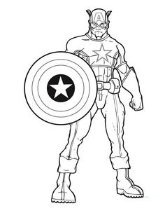 Captain America Coloring page  Cookie CuttersStampsStencils