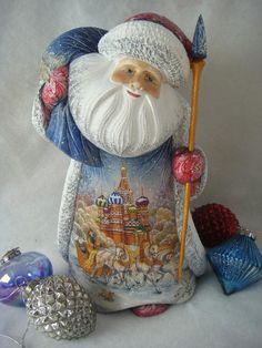 Russian Santa Purveyors - Russian Santas with sleigh, winter scene