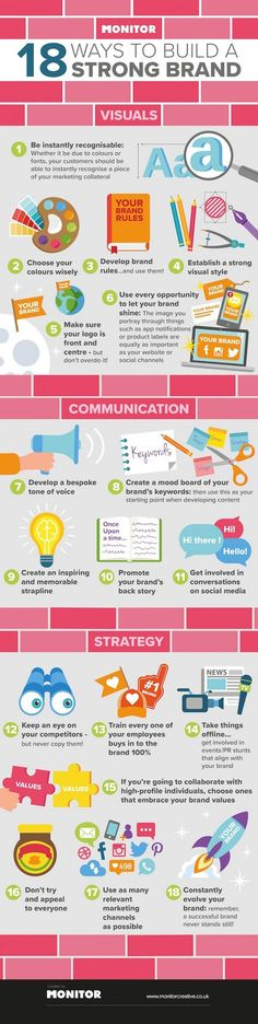 18 Ways To Build A Strong Brand - #infographic