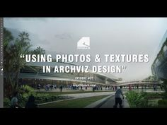 Using Photos and Textures in Architectural Visualization Design - Architectural Illustration - YouTube