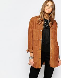 Image 1 of Pull&Bear Suede Jacket