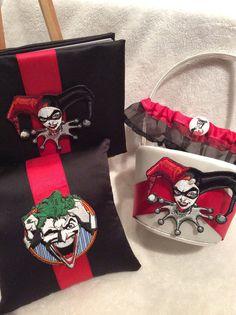 4 piece Harley Quinn and The Joker wedding set by BridalBliss2000