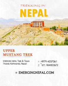 Trekking in Nepal - Upper Mustang Trek  Upper Mustang Trek is an awesome visit that travelers encounter ever best holiday trip in their lifetime. #Adventure #Nepal #Holiday