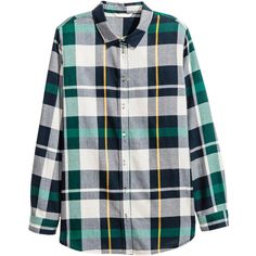 Flannel Shirt $24.99 (45 BAM) ❤ liked on Polyvore featuring tops, dark blue long sleeve shirt, cuff shirts, long sleeve shirts, shirt tops and button collar shirt