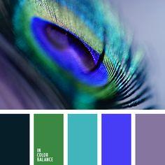 Blue and violet color palette ideas Peacock Color Scheme, Green Colour Palette, Blue Color Schemes, Bedroom Color Schemes, Color Combos, Peacock Colors, Lilac Color, Blue Colors, Design Seeds