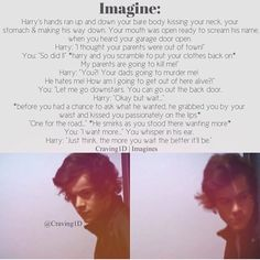 This is hot! lmao i want more favorite fandoms ❤ (cece) One Direction Images, One Direction Quotes, One Direction Harry, Harry Styles Images, Harry Styles Cute, Harry Edward Styles, Cute Imagines, Harry Imagines, Louis Imagines