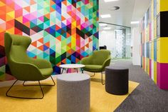 Plan Insurance Office by Office Principles - Office Snapshots - Grace High Back occasional chair! Gym Design, Environmental Graphics, Occasional Chairs, Workplace, Office Interiors, Contemporary, How To Plan, Rugs, Offices