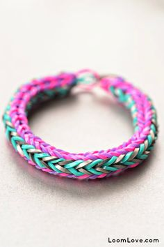 How to Make a Double Cross Rainbow Loom Bracelet