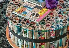10 Ideias Criativas de Artesanatos Feitos com Revistas Usadas