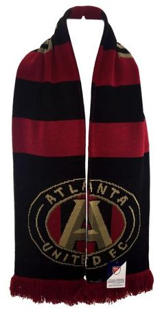 Stay warm and show your pride with classy bar scarf! Atlanta United Fc, Scarf Hanger, Fan 2, Usa Sports, United We Stand, Stay Warm, Cheerleading, All Star, Gym Bag