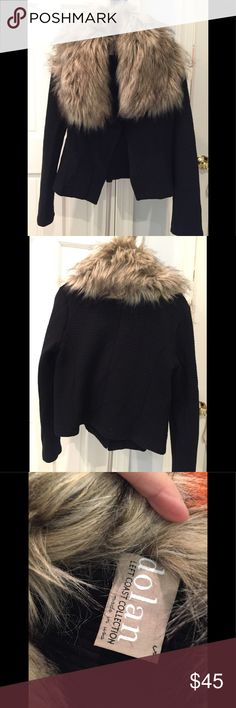 Selling this Anthropologie Faux Fur collared jacket on Poshmark! My username is: devilwearsheels. #shopmycloset #poshmark #fashion #shopping #style #forsale #Dolan #Jackets & Blazers