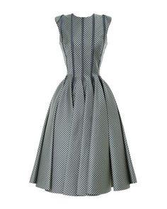 Thom Browne | Gray Sleeveless Paneled Jacquard Dress | Lyst