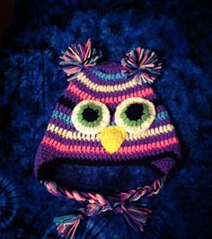 A personal favorite from my Etsy shop https://www.etsy.com/listing/203988828/customizable-owl-hat