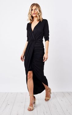 Black Jodie Dress - SilkFred