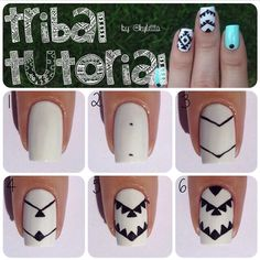 Tribal nail art tutorial