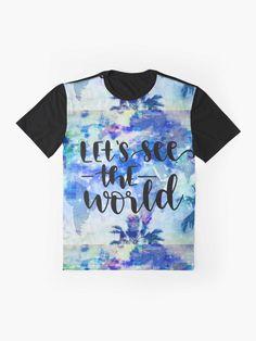 """I love traveling - with flowers"" T-shirt by RTSM   Redbubble Seoul Korea Travel, Tokyo Japan Travel, Thailand Travel, Asia Travel, Food Travel, Busan Korea, Stockholm, Unisex Fashion, Tshirt Colors"