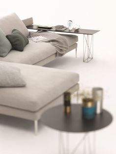 Fabric Sofa With Chaise Longue PILOTIS | Sofa With Chaise Longue   COR  Sitzmöbel Helmut Lübke