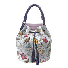 Bucket flowers Purple Suede, Bright Purple, Bucket Bag, Shoulder Strap, Zip, Leather, Bags, Shopping, Flowers