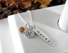 1 Sterling Silver Hand Stamped BAR Rectangle by auctionprincess, $48.00