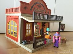Playmobil: PLAYMOBIL 3787 SALOON SALON OESTE WESTERN DESCATALOGADO COMPLETO EN…