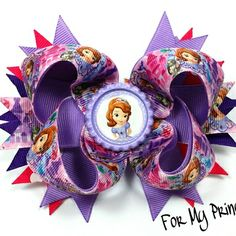 Sophia the First boutique hairbow