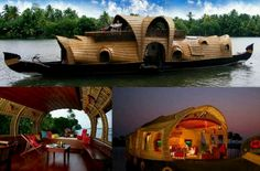 House Boats, love the top one its gotta be the coolest