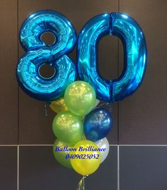 80th Birthday Celebrations Balloonnumbers 80thbirthdayballoons Partyballoonscanberra Heliumballoonscanberra Act Cbr Canberraballoons