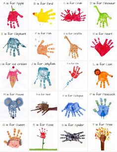 Cute handprint and footprint crafts hand print art e is for eagle kids handprint art how wee learn hand print art letter k hand print… Kids Crafts, Daycare Crafts, Baby Crafts, Toddler Crafts, Arts And Crafts, Crafts For Babies, Baby Footprint Crafts, Infant Crafts, Alphabet Crafts