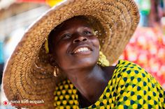 Woman smiling in Lagos, Nigeria.
