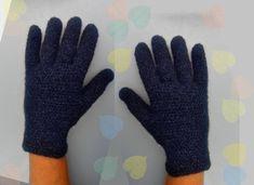 Alpaca gloves, hand made crochet finger gloves, Peruvian Alpaca, Angora, Cashmere by Dorsiana on Etsy