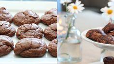 Brownie cookies Brownie Cookies, Frisk, Baked Goods, Brownies, Cake Recipes, Cereal, Sweet Tooth, Goodies, Sweets