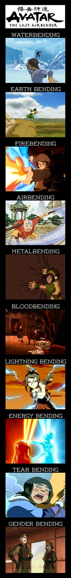 Types of Bending in Avatar