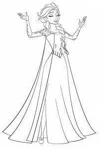Elsa Frozen Coloring Pages Free In 2020 Princess Coloring Pages Frozen Coloring Pages Elsa Coloring Pages