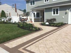 Create a show stopping entryway with Cambridge Pavingstones with ArmorTec. They will make your house the best looking in the neighborhood! Installation: Sparrow Landscaping