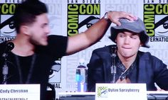 Cody Christian and Dylan Sprayberry #TWcast. via: http://sprayberrywolf.tumblr.com/