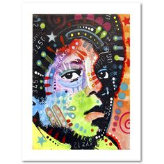 This print on high quality archival paper features a colorful painting of Michael Jackson. Art and animals. These two passions define Dean, a Brooklyn, New York-based artist who uses vibrant Pop Art c