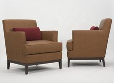 Custom upholstered hospitality club chairs. Wharton Hunt can build this for you.  Learn more about how Wharton Hunt does this at http://www.whartonhunt.com/portfolio/custom-hospitality-seating/