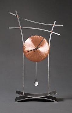 """Asian Mantle Clock"" by Julie Girardini and Ken Girardini Home Clock, Clock Art, Diy Clock, Clock Decor, Wooden Gear Clock, Metal Clock, Traditional Clocks, Pallet Clock, Cool Clocks"