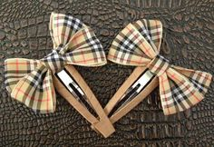 Snap Scottish Checked Hair Clips | Bows  http://laprensaccessories.com/?page_id=12#ecwid:category=0=product=8541761