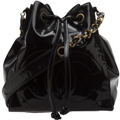 CHANEL VINTAGE patent bucket bag found on Polyvore