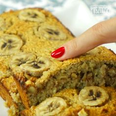 Babka bananowa z płatkami owsianymi i orzechami włoskimi Pound Cake, Healthy Cooking, Banana Bread, Sweet Tooth, Clean Eating, Sweets, Breakfast, Recipes, Food