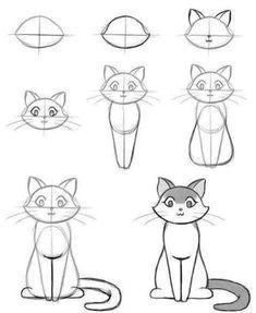 Resultado de imagem para simple line drawing cat