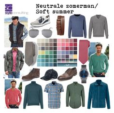 """Neutrale zomertype (man). Soft summer men."" Margriet Roorda-Faber, Style Consulting."