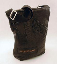 Com.Passion Repurposed Leather Medium Shoulder Bag