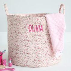 Pink Ditsy Storage Bag