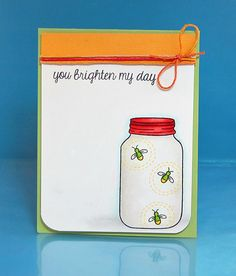 Lawn Fawn Summertime Charm by Lynnette Mason Jar Cards, Mason Jars, Canning Jars, Love Cards, Diy Cards, Pinterest Diy Crafts, Lawn Fawn Blog, Lawn Fawn Stamps, Jar Labels