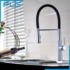 86.58$  Buy here - http://alik0l.worldwells.pw/go.php?t=32717116760 - 2016 Pull Out Kitchen Faucet Pull Down Sink Swan Faucet Kitchen Tap torneira cozinha Kitchen Mixer Tap