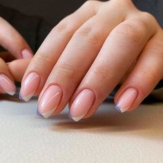 Two Toned French Short Coffin Nails ❤ 30+ Outstanding Short Coffin Nails Design Ideas For All Tastes ❤ See more ideas on our blog!! #naildesignsjournal #nails #nailart #naildesigns #coffins #coffinnails #shortcoffinnails #coffinnailshapes