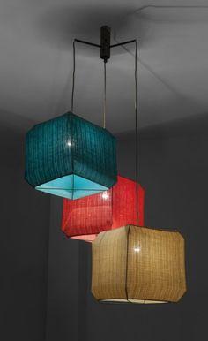 Bruno Munari; 'Bali' Ceiling Light for Danese, 1958.