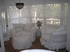 My slipcovers, Susie Holt Chic Decor, White Interior, Decor, Shabby Chic Decor, Shabby Chic Style, Shabby Chic Cottage, Home Decor, Dreamy Whites, White Decor